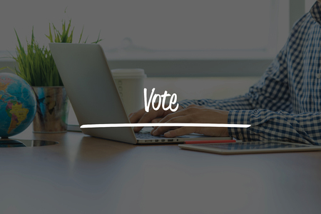 BUSINESS OFFICE WORKING COMMUNICATION VOTE BUSINESSMAN CONCEPT
