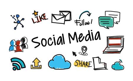 Illustration for SOCIAL MEDIA - Royalty Free Image