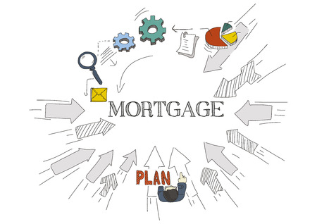 Arrows Showing MORTGAGE