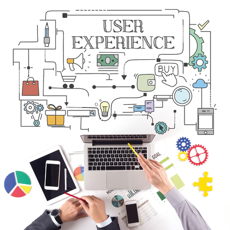 PEOPLE WORKING WORKPLACE TECHNOLOGY TEAMWORK USER EXPERIENCE CONCEPT