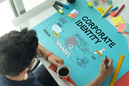 BRAND BUSINESS MARKETING AND CORPORATE IDENTITY CONCEPT