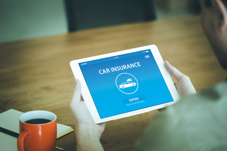 CAR INSURANCE CONCEPT ON SCREEN