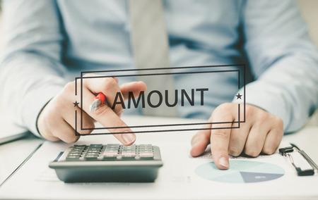 FINANCE CONCEPT: AMOUNT
