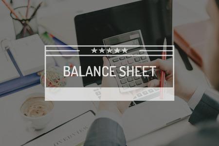 BUSINESS CONCEPT: BALANCE SHEET