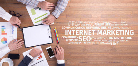 Photo pour Business Concept: Internet Marketing Word Cloud - image libre de droit