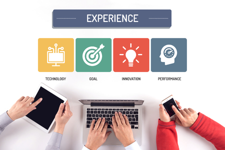 BUSINESS TEAM WORKING ON EXPERIENCE CONCEPT