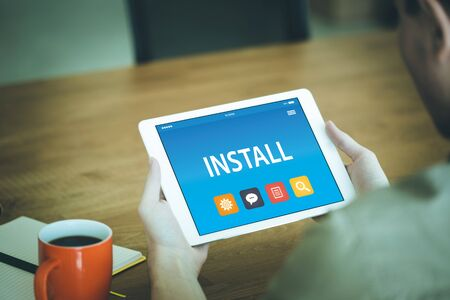 INSTALL CONCEPT ON TABLET PC SCREEN