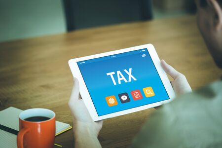 TAX CONCEPT ON TABLET PC SCREEN