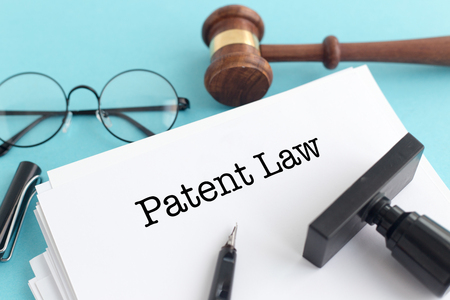 Photo for PATENT LAW CONCEPT - Royalty Free Image