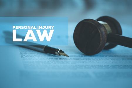 Photo pour PERSONAL INJURY LAW CONCEPT - image libre de droit