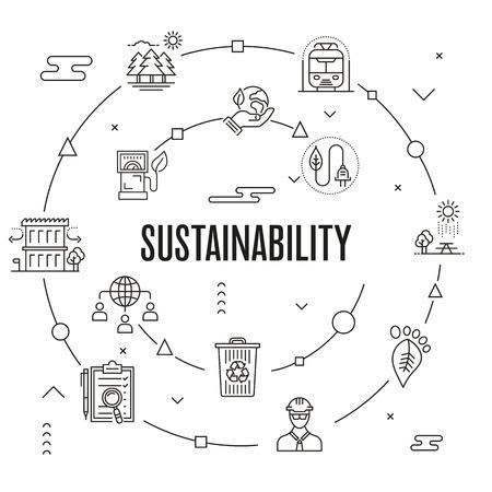 Illustration pour Sustainability Concept vector illustration. - image libre de droit