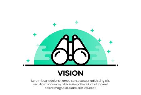 Illustration pour VISION ICON CONCEPT - image libre de droit