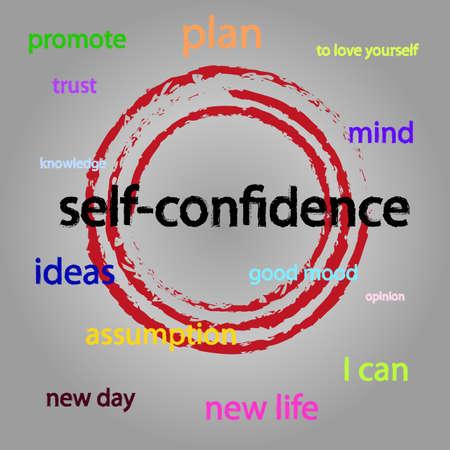 Illustration pour Self-confidence graphic theme - image libre de droit