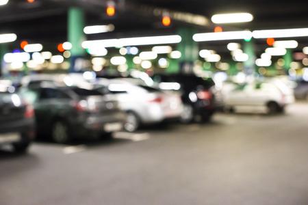 Foto de Abstract blur car parking lot for background - Imagen libre de derechos