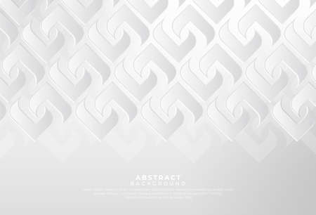Illustration pour Modern white gray abstract background creative design. Abstract light silver vector, luxury texture used in cover design, book, poster, advertising. Vector illustration - image libre de droit