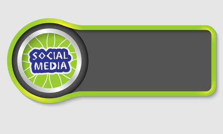 Abstract button for your white text and social media headline