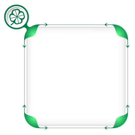 Text box to fill your text and cloverleaf