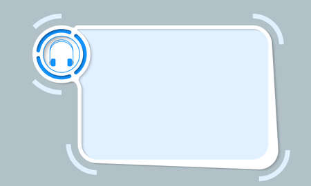 White abstract frame for your text and headphones