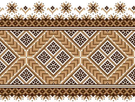 Vector illustration of ukrainian national pattern ornament