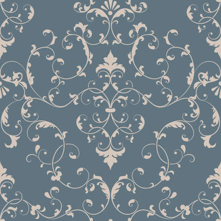 Illustration pour Vector damask seamless pattern element. Elegant luxury texture for wallpapers, backgrounds and page fill. - image libre de droit