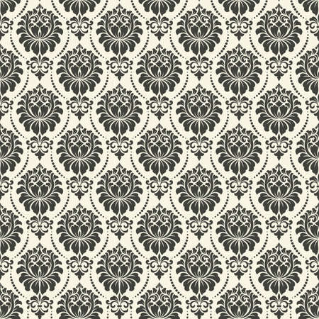 Vector Damask Seamless Pattern Background Elegant Luxury