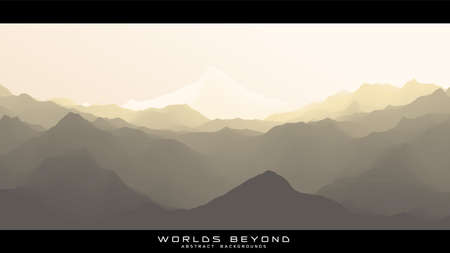 Illustration pour Worlds beyond abstract landscapes. Vector beautiful misty fog over mountain slopes. Abstract gradient eroded terrain surface background. Colorful waves - image libre de droit