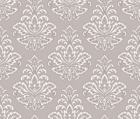 Illustration pour Damask seamless pattern element. Vector classical luxury old fashioned damask ornament, royal victorian seamless texture for wallpapers, textile, wrapping. Vintage exquisite floral baroque template - image libre de droit