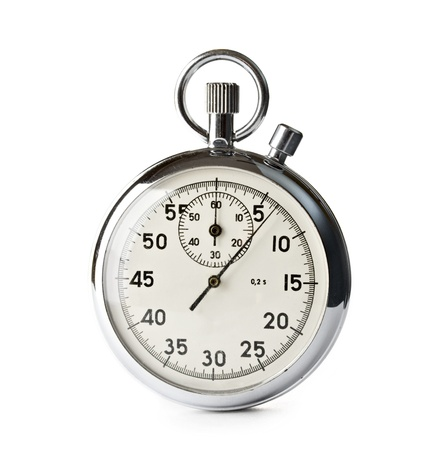 Stopwatch isolated on the white background
