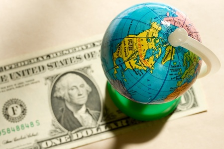 Globe and one dollar