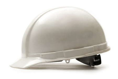 Photo for Working safety helmet on white  - Royalty Free Image