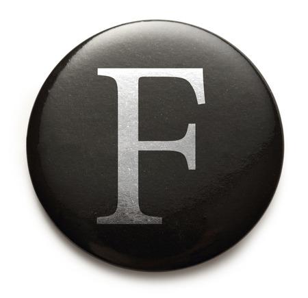 Single capital latin letter F