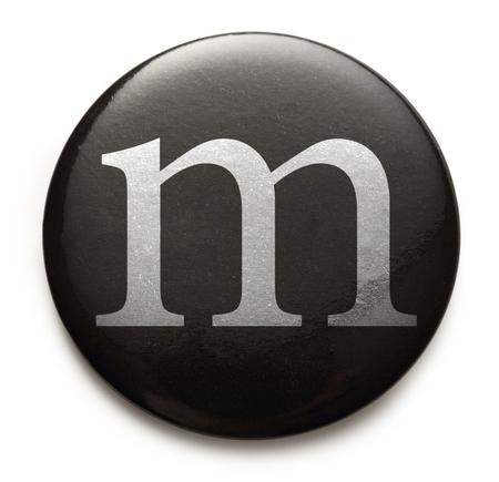 Single lowercase latin letter m