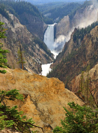 The Lower Falls at the Grand Canyon of the Yellowstone