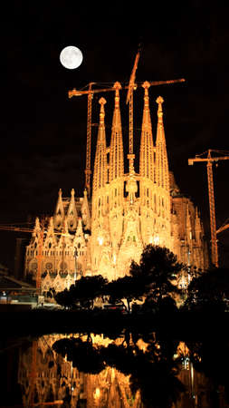The Sagrada Familia Church in Barcelona Spain