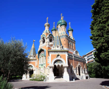 The unique Russian Orthodox church in Nice, France