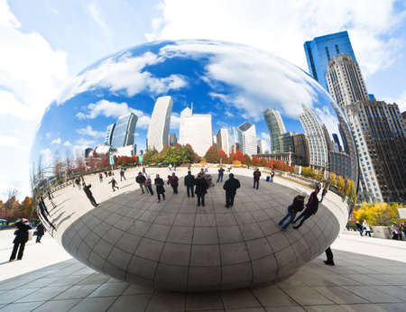 CHICAGO, USA - NOVEMBER 14: The Millennium Park in downtown Chicago on November 14, 2010, which costs $475 million and is completed in 2004, a major construction since the World's Exposition of 1893.