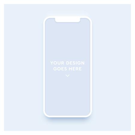 Illustration pour New smartphone mockup. Vector phone template. - image libre de droit