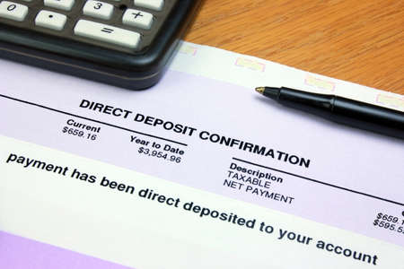 Photo pour Direct Deposit Confirmation - image libre de droit