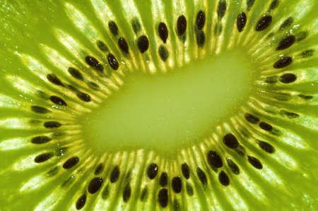 Close-up of a fresh Kiwi