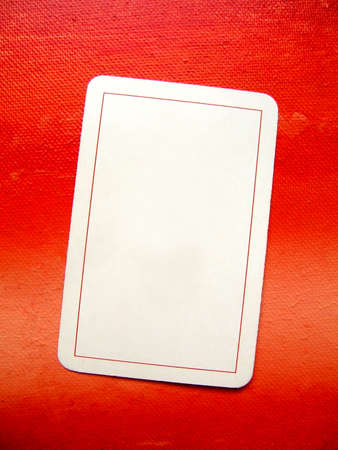 Blank card on red painted background : add your text :)