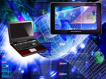 Photo pour Programming Internet website network - image libre de droit