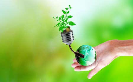 green energy in technologies gardening plantes