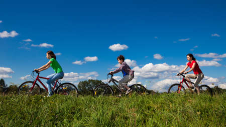 Photo for Family riding bikes - Royalty Free Image