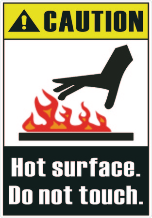 Hot surface. Do not touch