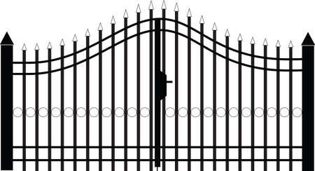 gate silhouette vector