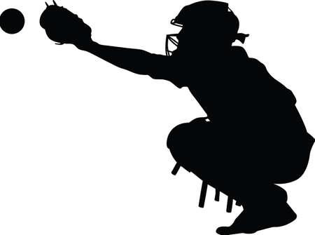 Illustration for Baseball catcher - Royalty Free Image