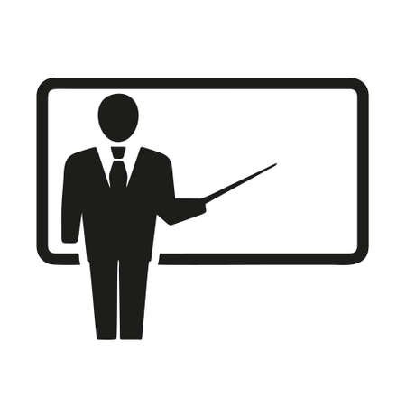 Illustration pour teacher icon isolated on white background from business training collection. teacher icon trendy and modern teacher symbol for logo, web, app, UI. teacher icon simple sign. - image libre de droit