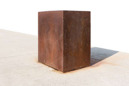 rusty iron cuboid