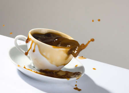 Splashes of hot coffee