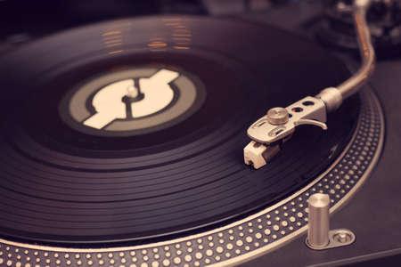 Vinyl player close up photo